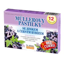 Dr. Müller Müller lozenges with zinc and black currant - without sugar