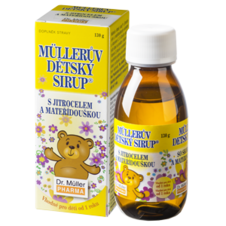 Dr. Müller Müller's baby syrup® with plantain, thyme and vitamin C.