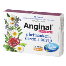 Dr. Müller Anginal® tablets with chamomile, mallow and sage