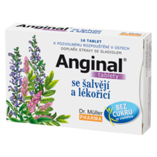 Dr. Müller Anginal® tablety so šalviou a sladkým drievkom