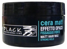 Black matující pasta na vlasy Matt hair Wax strong hold 100 ml